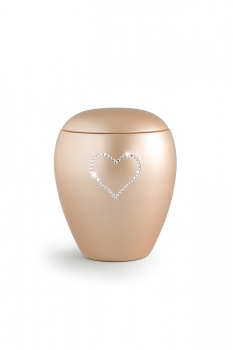 Pet urns 2,8 ltr Color: Apricot with heart