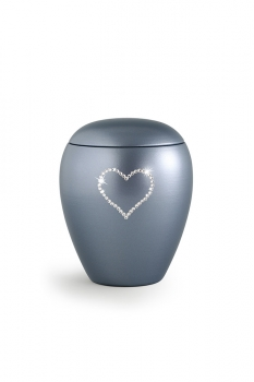 Pet urns 2,8 ltr Color: Grey with heart
