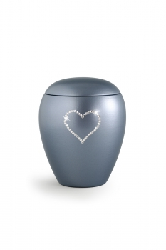 Pet urns Crystal  Color:  Grey with heart