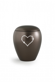 Pet urns Crystal  Color:  Chocolate with heart