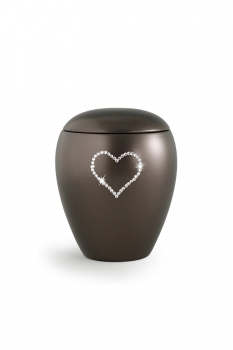 Pet urns 2,8 ltr Color:  Cocolate with heart