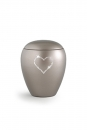 Pet urns 2,8 ltr Color: Olive grey with heart