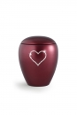 Pet urns 2,8 ltr Color:  Red with heart